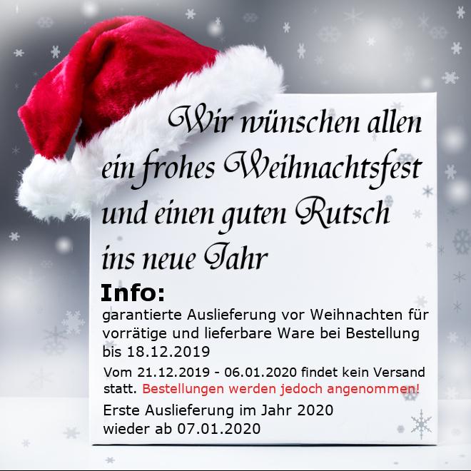 Weihnachtshinweis 2019-2020 Startseite